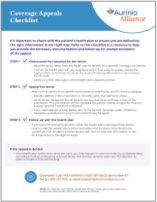 Coverage Appeals Checklist