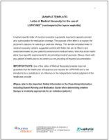 Sample Letter of Medical Necessity