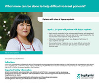April J., 31-year-old patient with class V lupus nephritis
